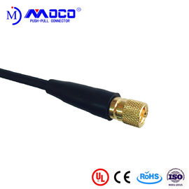 Microdot 10-32 Male Coaxial Cable Connectors PPS Nsulator For Ultrasonic Prob Cable